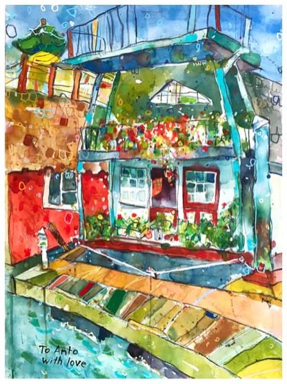 "pen, watercolor, pencil, acrylic on paper | 30"" x 22"""