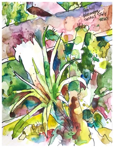 "watercolor, pen on paper | 10"" x 8"" | $100"