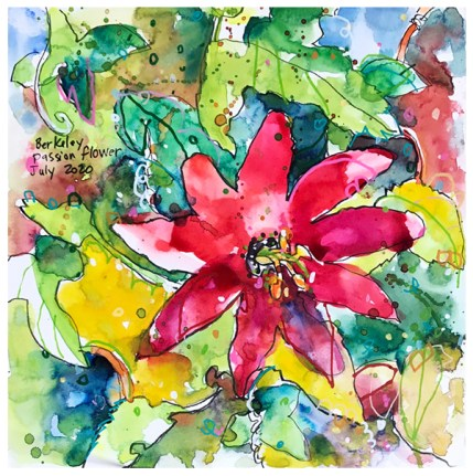 """watercolor, ink on paper   10"""" x 10""""   $130"""