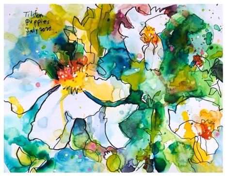 "watercolor, pen on paper   8"" x 10""   $100"