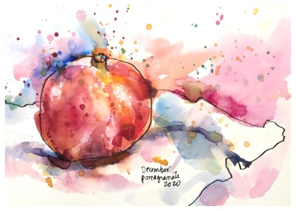 """watercolor, pen, acrylic ink on paper   7"""" x 10""""   SOLD"""