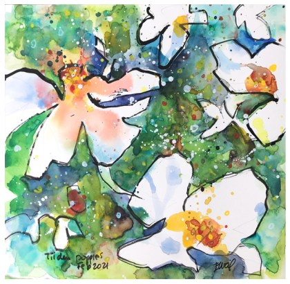 "watercolor, sticks-and-ink, acrylic ink on paper | 10"" x 10"" 