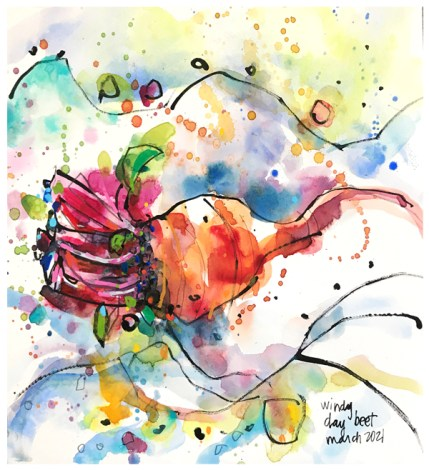 watercolor painting of beets by emily weil