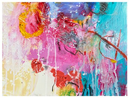 """abstract acrylic painting 9""""x12"""" by emily weil"""