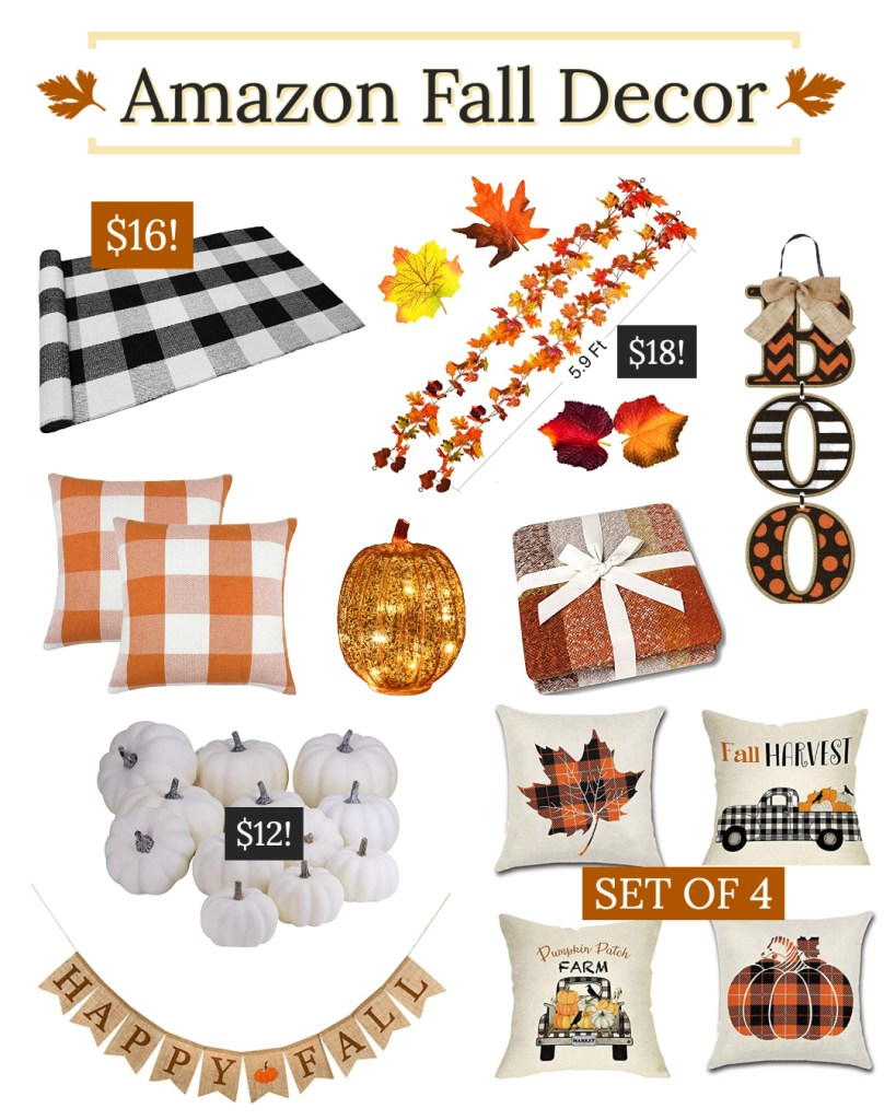 amazon fall decor round up collage to shop