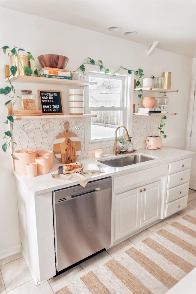 boho white kitchen makeover