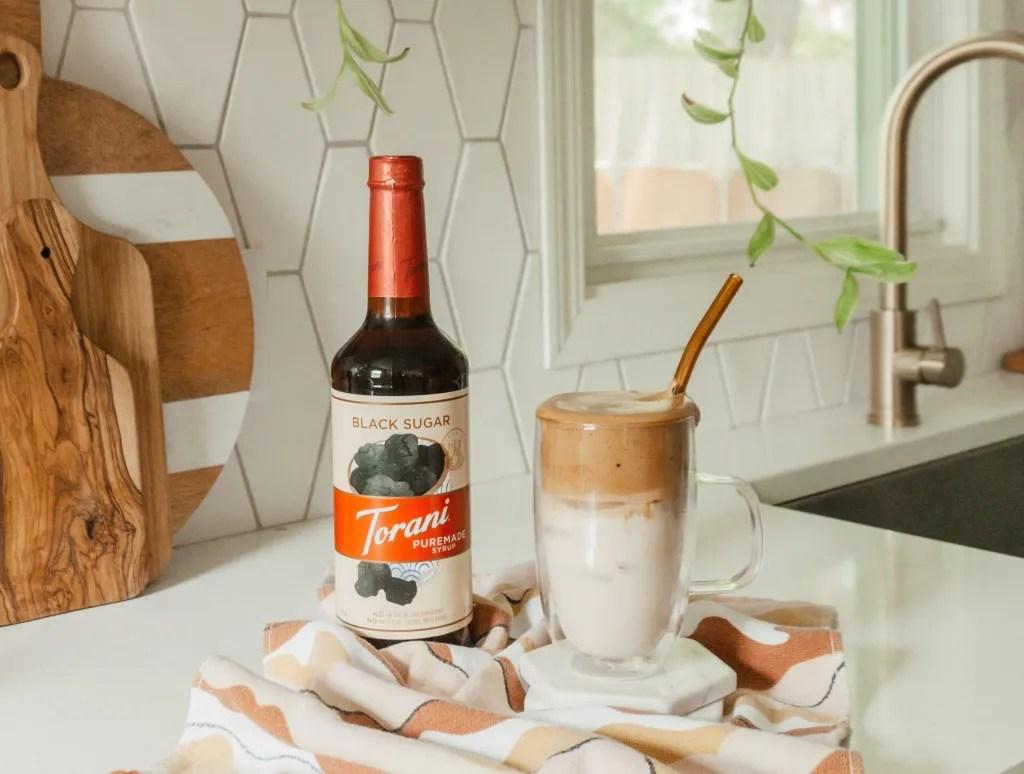 Black Sugar Dalgona Iced Coffee