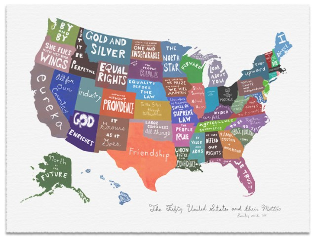 The Fifty United States and their Mottos