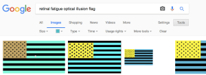 The Inverse US Flag Is A Classic Optical Illusion And Id First Come Across It In Book Of Visual Tricks