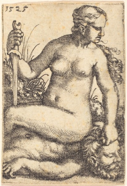 barthel-beham-judith-seated-on-the-body-of-holofernes-1525