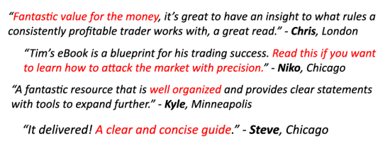 Trading Rules for the ES & 6E Futures Testimonials