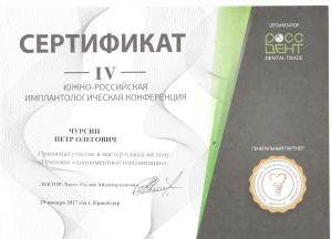 Сертификат, Чурсин Петр Олегович