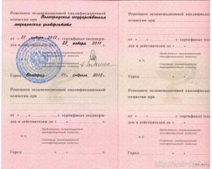 Сертификат, Погребной Алексей Валерьевич