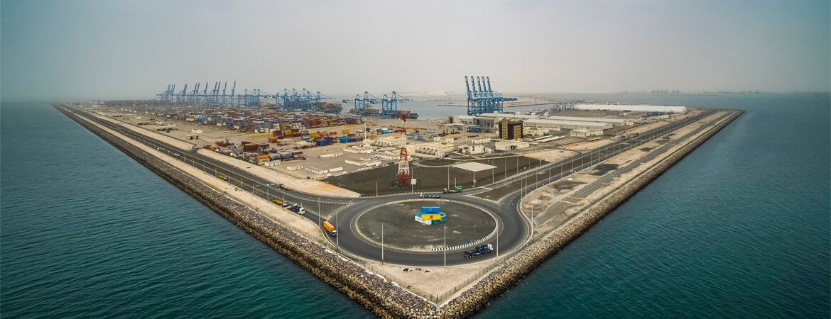 Khalifa Port aerial view