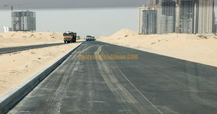 Emirates City Ajman Exit Roads / Streets Construction Works Update