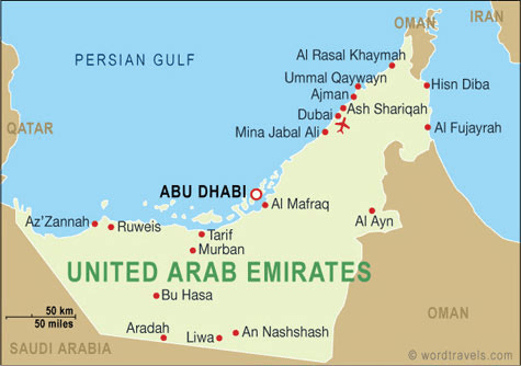 What are the 7 emirates in United Arab Emirates?
