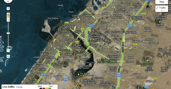 uae google map live traffic