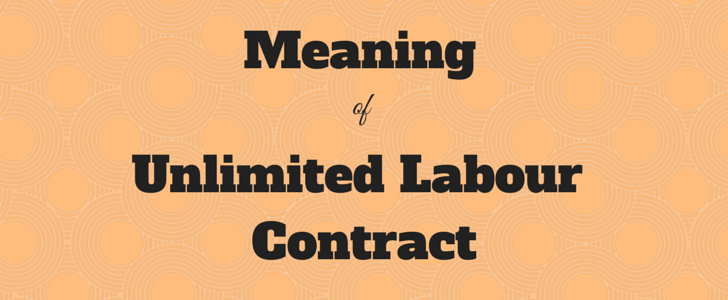 unlimited contract under uae labour law meaning of