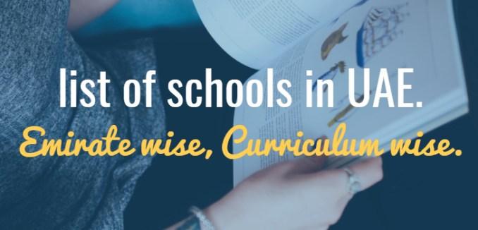 list of schools in dubai abu abudhabi uae