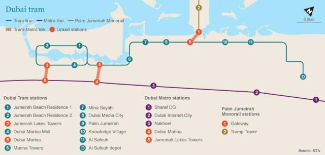 dubai monorail map