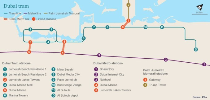 dubai monorail map