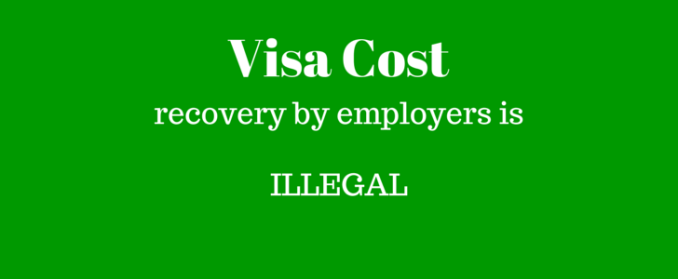 visa costs
