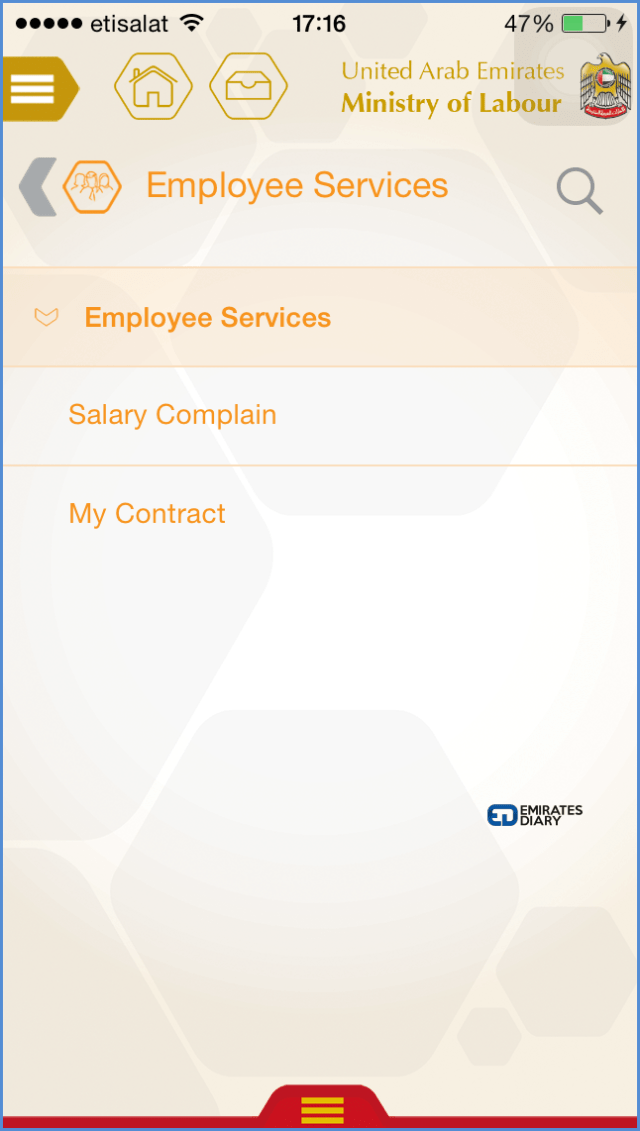 03 labour contract details through mol smartphone app