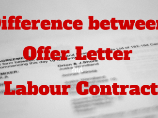 offer letter and labour contract