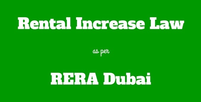 Rental Increase Law rera dubai