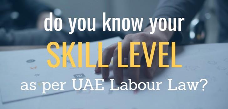 skill category as per uae labor law