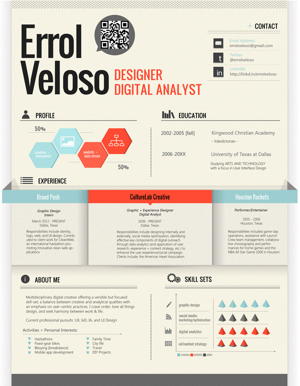 creative resume, beautiful resume