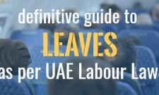 leaves under uae labour law
