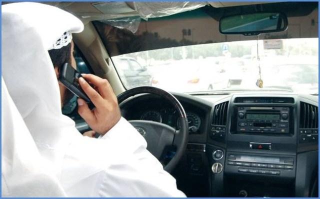 mobile phone and driving dubai
