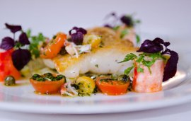 Recipe With The Ivy | Chargrilled Halibut With Pickled Fennel And Sauce Vierge