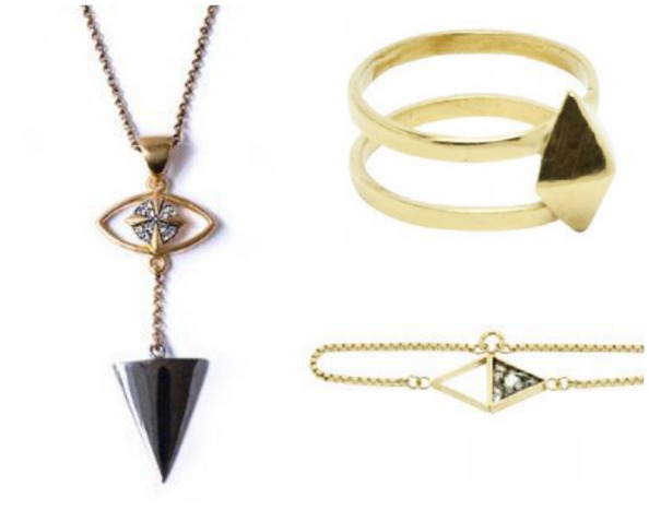 Necklace, Dhs786, Elkin London at The Individual; Ring, Dhs283 and Bracelet, Dhs346 at Individual