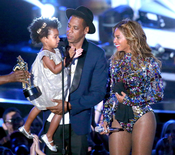2014 MTV Video Music Awards - Beyonce, Jay Z, Blue Ivy