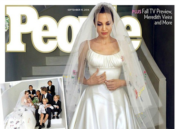 Angelina Jolie Wears Wedding Dress Custom Designed By Versace… And ...