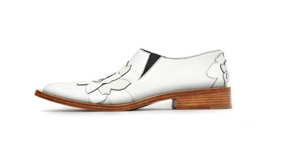 Victoria Beckham- SS15-Calf Patent White Flats
