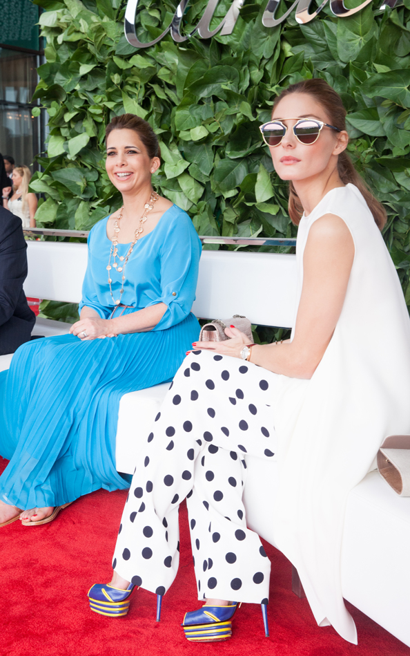 HRH Princess Haya Bint Al Hussein and Olivia Palermo