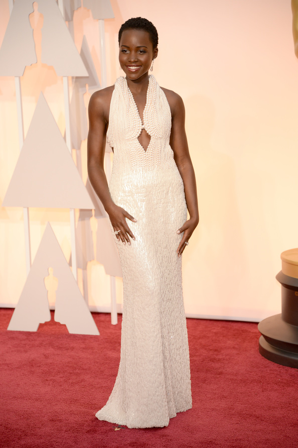 Lupita Nyong'o  in Calvin Klein at the Oscars