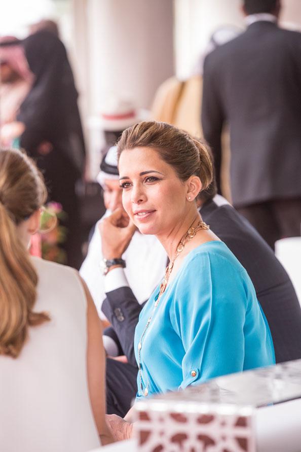 HRH Princess Haya Bint Al Hussein talking with Olivia Palermo