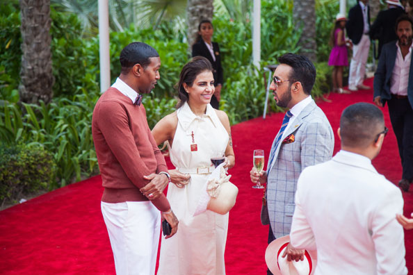 Stylish spectators at the Cartier Polo