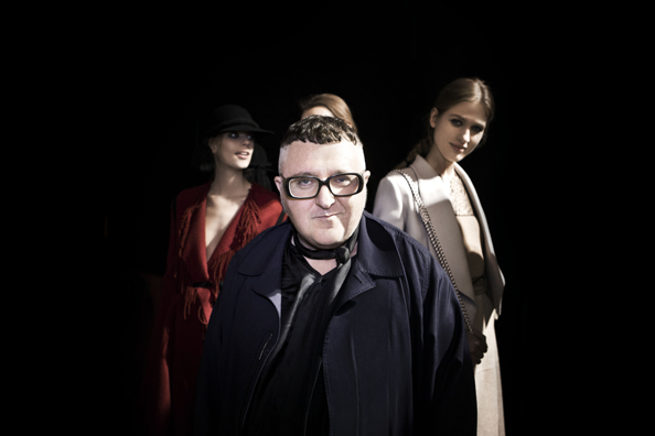 Alber Elbaz, Lanvin backstage at Paris Fashion Week Fall Winter Collection 2015.