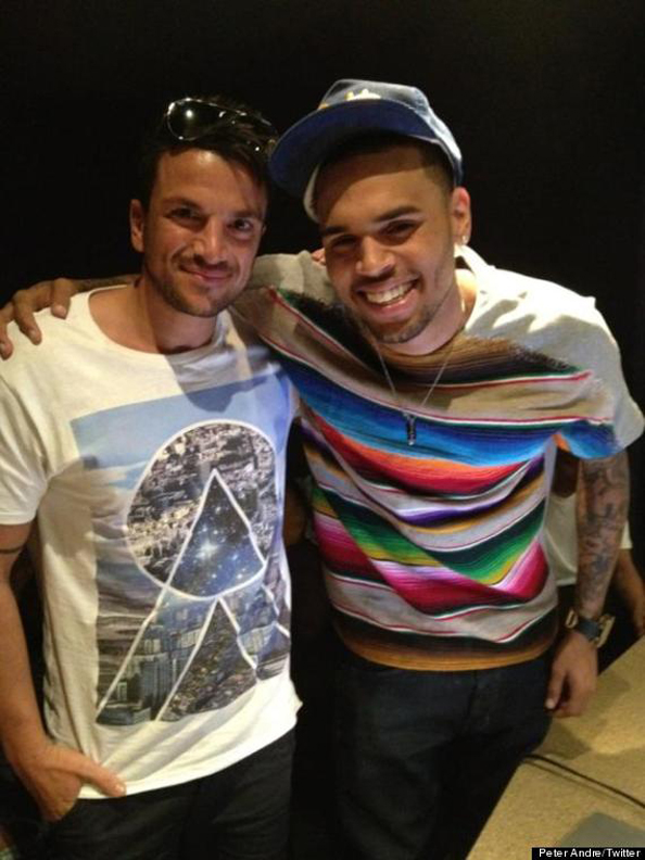 Peter Andre and music pal Chris Brown