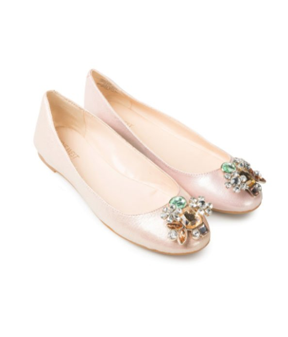 Pink Aranella Embellished Pumps, Dhs249 , Nine West @ sivvi.com