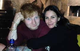 Ed Sheeran To Be Courtney Cox's Wedding Singer