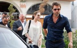 Brad Pitt And Angelina Jolie In The UAE