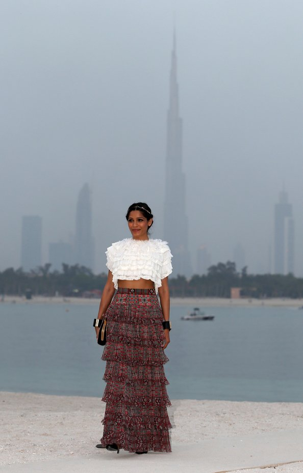 Freida Pinto in Dubai Fro Chanel
