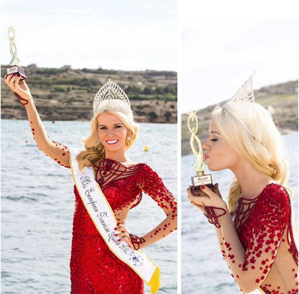 Dubai-based supermodel Lenka Josefiova Crowned Miss European Tourism Queen 2015