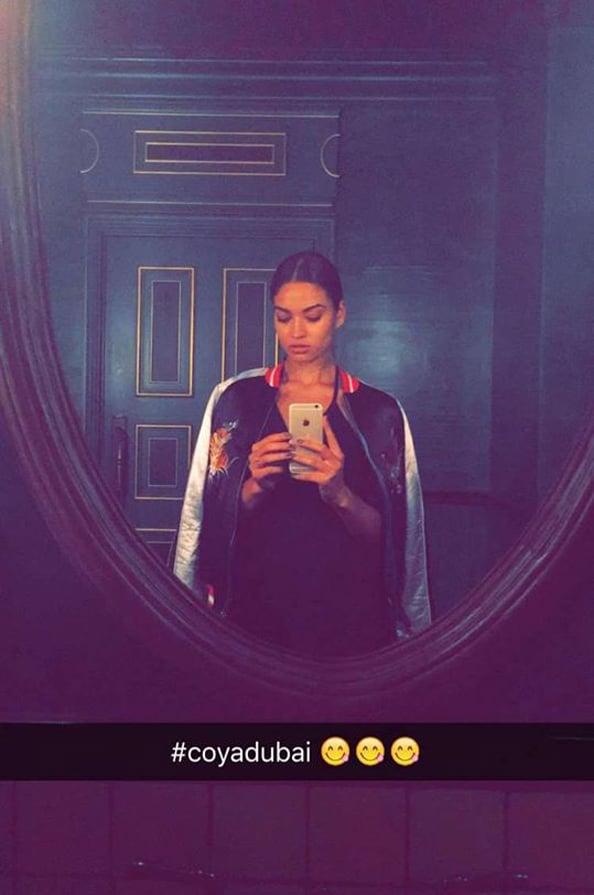 Shanina Shaik Dubai Victoria's Secret Saudi